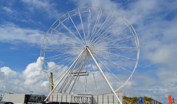 <p>Het befaamde reuzenrad in Egmond vorig jaar</p>