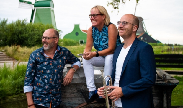 Trio Saen Amare: Njola Ritzen (fluit), Ruud Kleiss (trompet) en Ruud Luttikhuizen (piano).