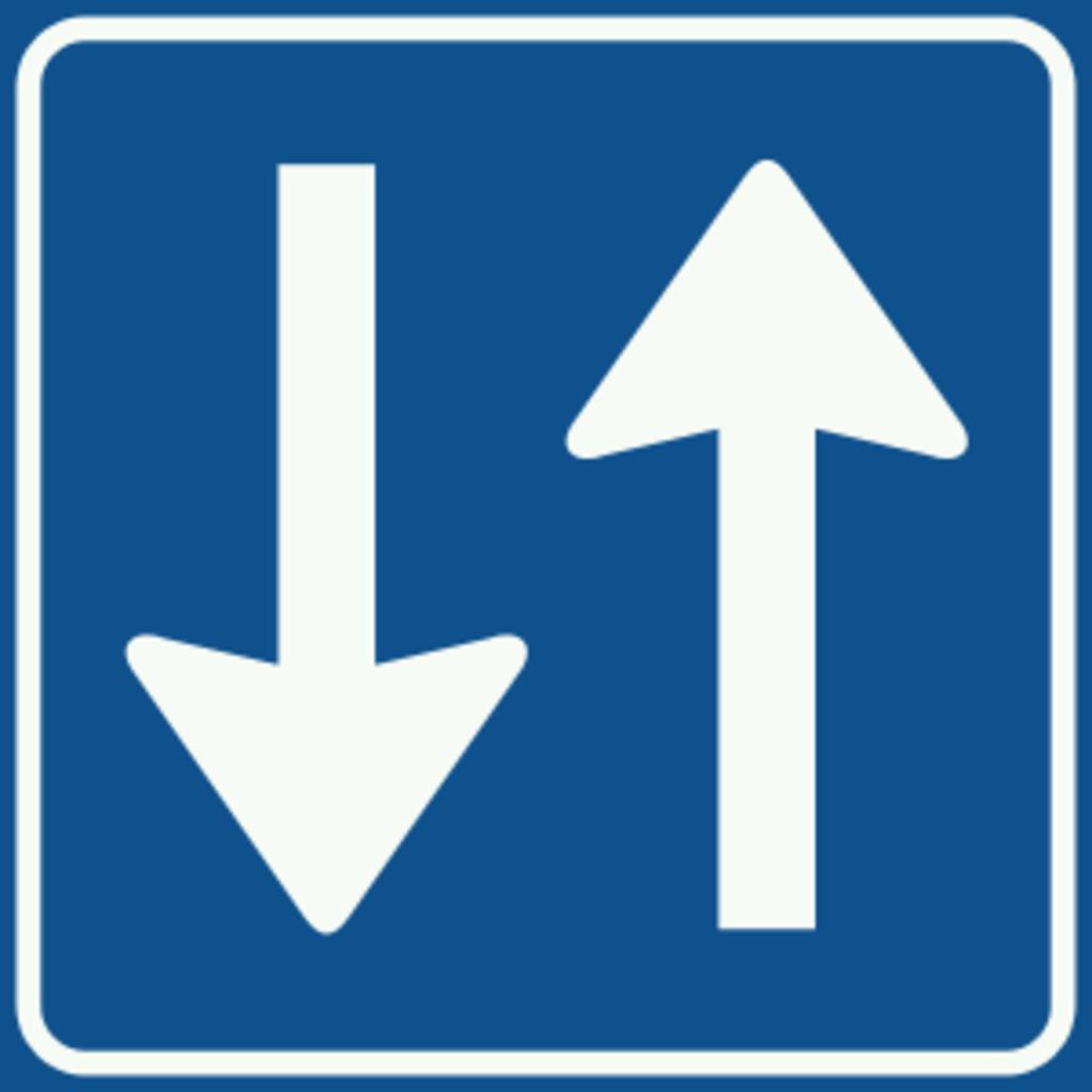 De oude verkeersborden in Watergang zijn deze week vervangen.  (Foto: wikimedia) © rodi