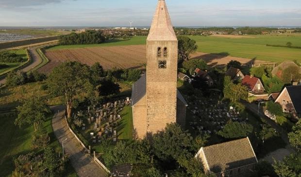 De kerk in Oosterland.