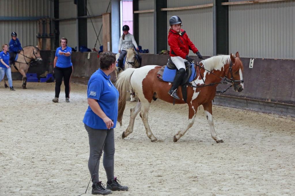 De ruiters zijn blij dat ze weer op een paard zitten. (Foto: Theo Annes) © rodi