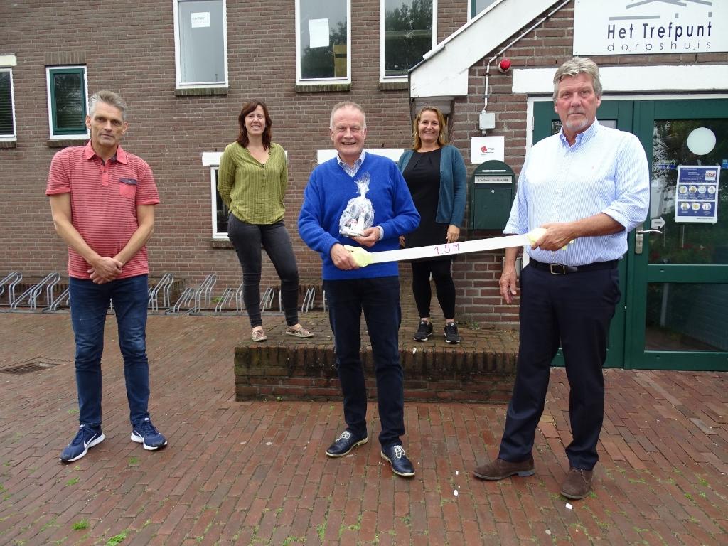 v.l.n.r.: Henk Zeeman, Suzan Visser, burgemeester, Nicolette Schouten en Cees van Altena. (Foto: Pep) © rodi