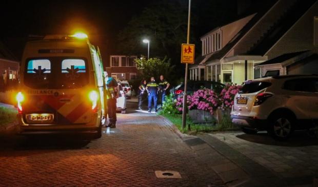 Een slachtoffer per ambulance naar het ziekenhuis overgebracht.