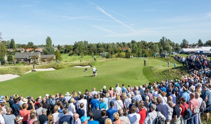 Drukte bij het KLM Open op The International. Bernardus Golf komt nu dus pas volgend jaar aan bod.