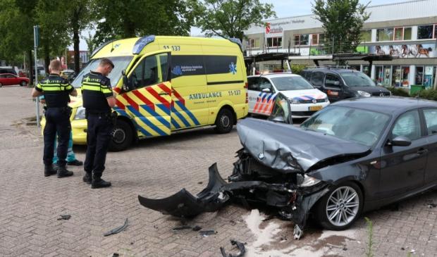 Een van de bij het ongeval betrokken voertuigen.
