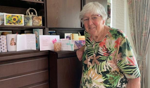Mevrouw 'Dien' Drukker: ''Lieve mensen, bedankt voor die kaarten.''