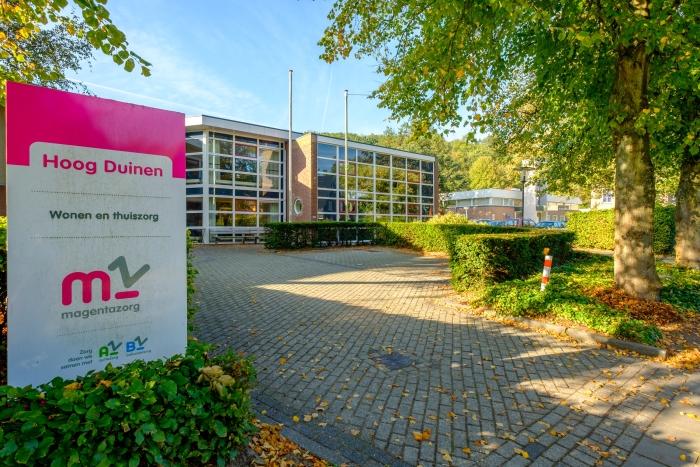 Voorzijde woonzorgcentrum Hoog Duinen in Schoorl