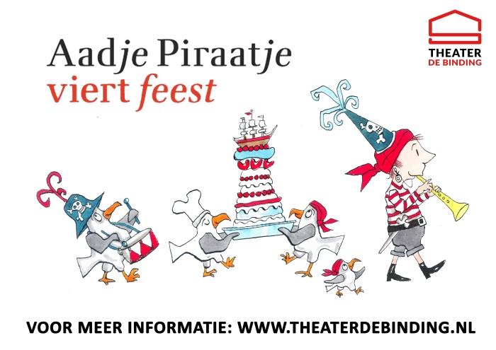Aadje Piraatje viert feest Deshney Jansen © rodi