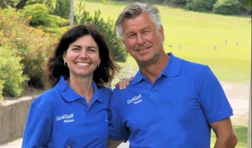 Bernadette en Peter van Pelt. ,,We hebben met Go4Golf gekozen voor bestemmingen die populair zijn en wilden dáár de beste in worden.''