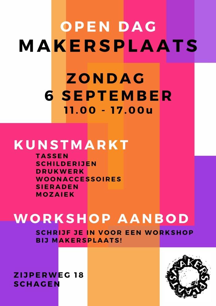 Poster Makersplaats open dag Rowie Legebeke © rodi