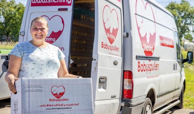 <p>Marjolijn Hermus van Stichting Babyspullen kondigt een tijdelijke innamestop aan.</p>