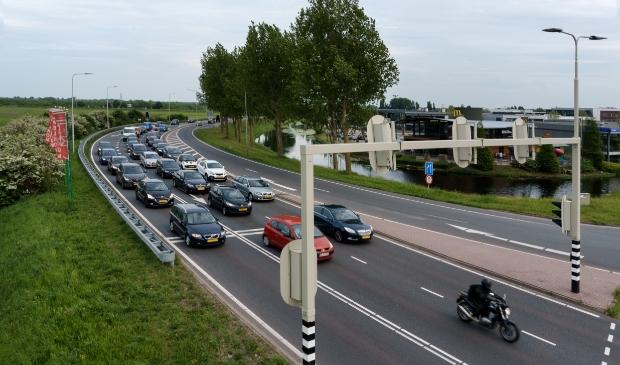 Kruispunt in Hoofddorp.