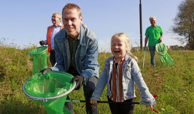 <p>Wethouder Langedijk had zijn dochtertje Eva meegenomen.</p>