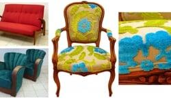 Na herstoffering zijn meubels weer als nieuw