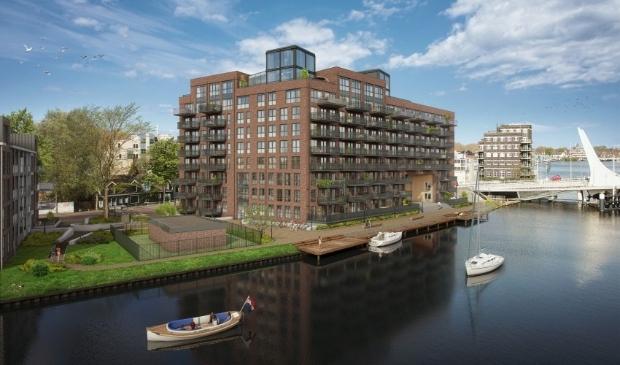 <p><em>Impressie appartementencomplex, start bouw van het complex is deze week gestart</em></p>