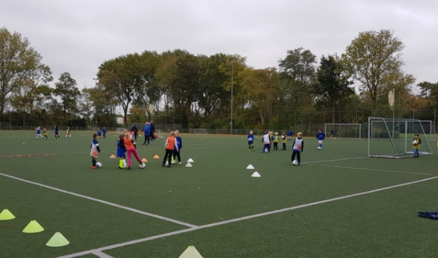 <p>Pupillen in training bij FC Castricum.</p>