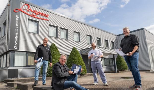 V.l.n.r. Arjan Groen, Herbert de Jong, Rudy Haringhuizen en Norbert Reijngoud