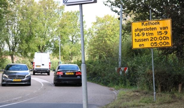 <p>Opgelet, afsluiting van Kathoek in Avenhorn.</p>