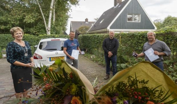 <p>Burgemeester Van Kampen, Robert de Lange, Rik Swikker en Edwin Zoetelief </p>
