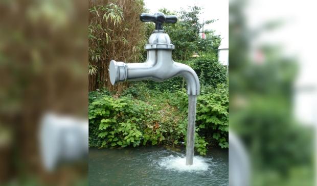 <p>Water in de tuin.</p>