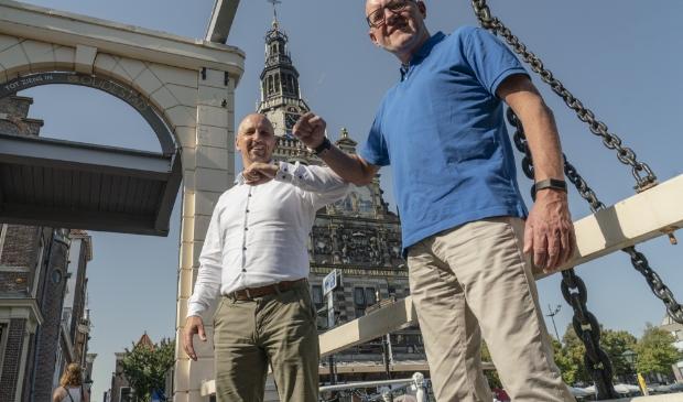 <p>Niels Ackermans (Rodi Media) en Ger Welbers (Alkmaar Marketing).</p>
