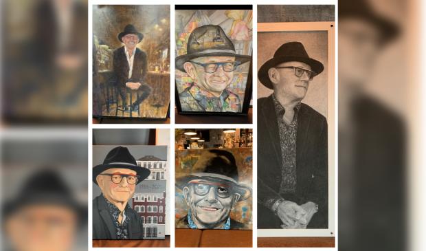 <p>Enkele van Frans Spijkerman gemaakte portretten.</p>