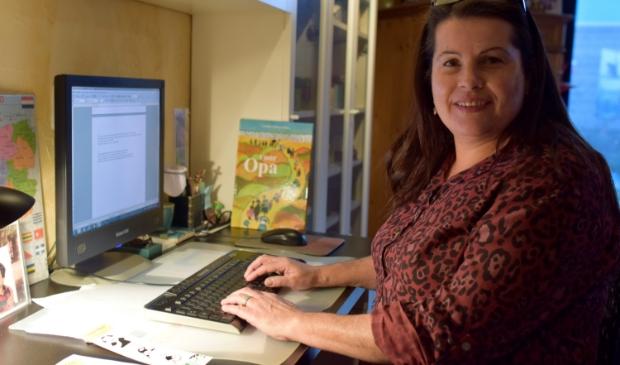 Claudia is alweer begonnen aan een nieuw verhaal voor het volgende prentenboek.