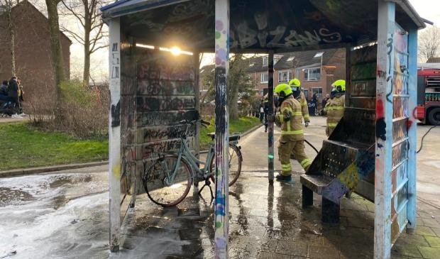 <p>Een elektrische fiets heeft vlamgevat.</p>
