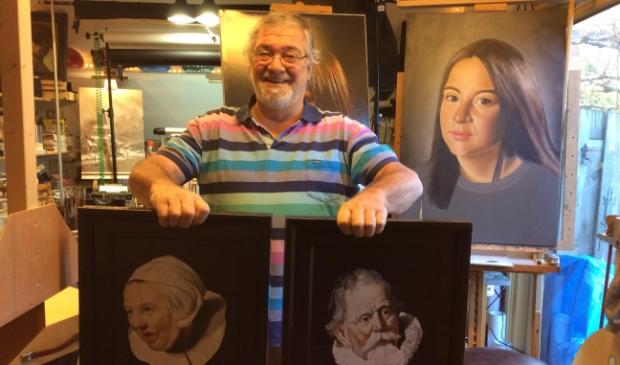 <p>Gerard Luten in zijn atelier.</p>