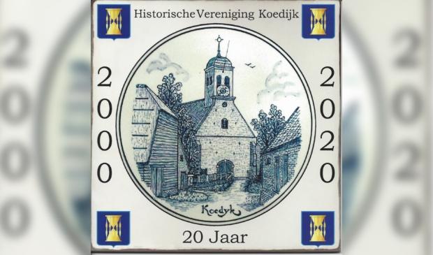 <p>Mijlpaal voor de Historische Vereniging Koedijk.</p>