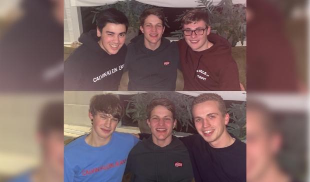 <p>Bram was blij om weer even met zijn vrienden te zijn.</p>