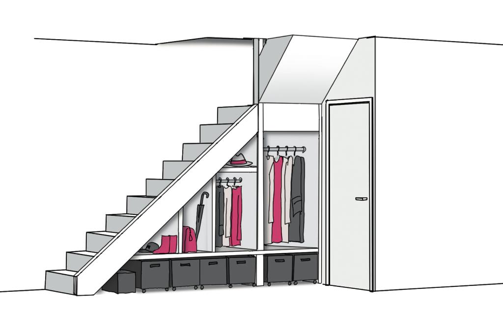 trapkast als garderobe (Foto: ) © rodi