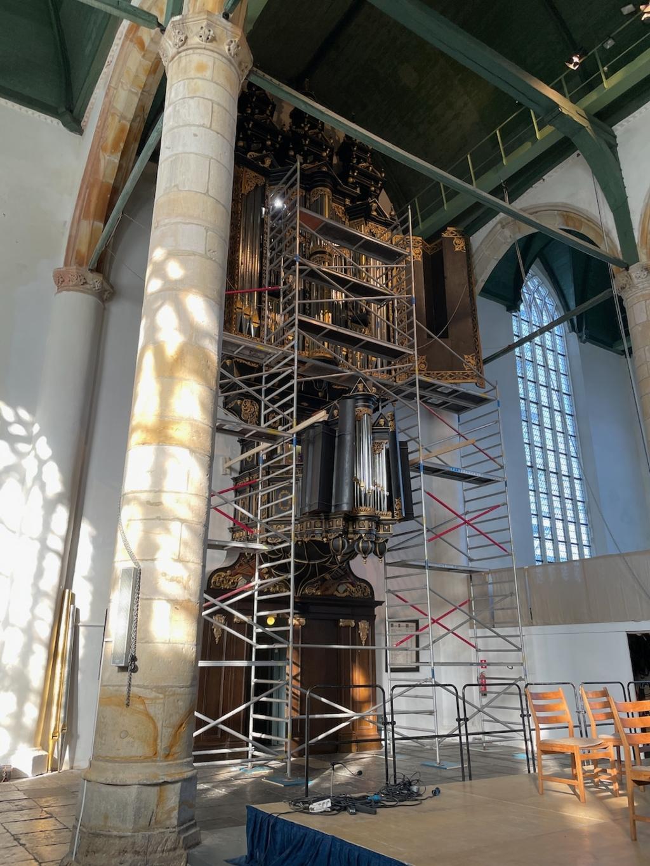 Orgel in de steigers. (Foto: aangeleverd) © rodi