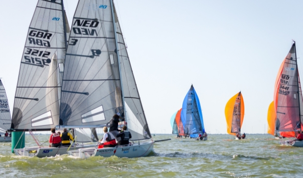 <p>SB 20&#39;s tijdens Open Dutch Sailing Championships 2020.</p>