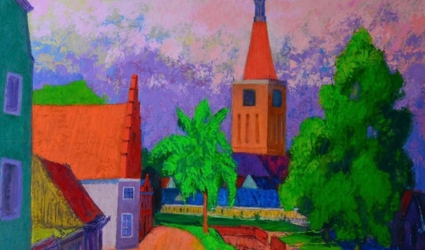 <p>Gedeelte van het schilderij van Jannes de Vries.</p>