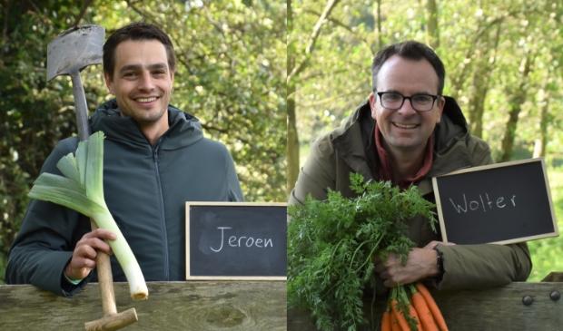<p>Kartrekkers Jeroen van den Hoorn en Wolter van der Vlist.</p>