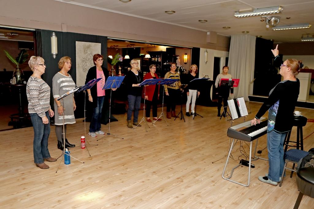 De dames beginnen de repetitie avond enthousiast. (Foto: vincentdevriesfoto.nl) © rodi