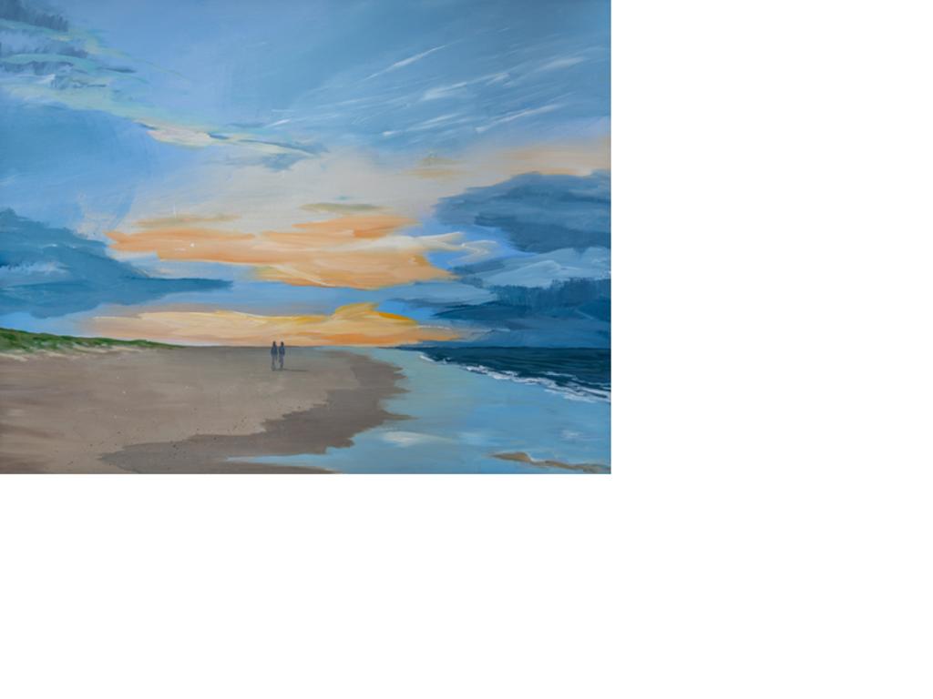 Strandwandeling, acryl op doek. ((Foto: Aangeleverd)) © rodi