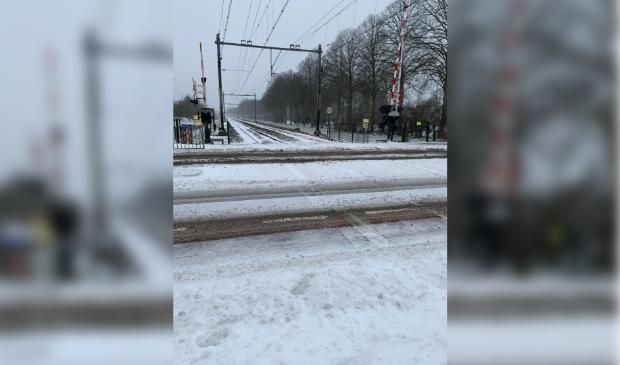 Het treinverkeer is ontregeld door het winterweer.