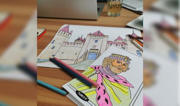<p>Kleurplaten maken is een leuke bezigheid voor thuis. &nbsp;</p>