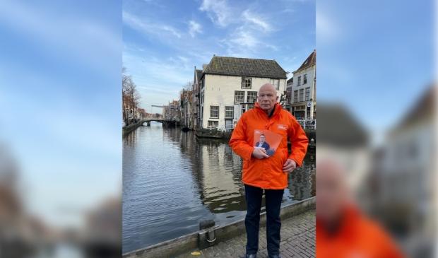 <p>Peter Plasman op campagne in Alkmaar.</p>