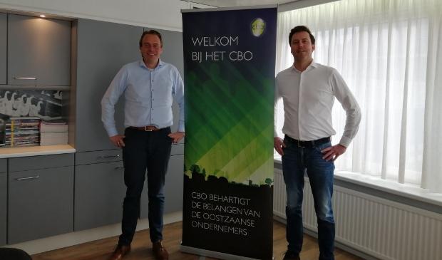 <p>Michael Ruig (links) en Marc Flens willen er juist nu voor ondernemers zijn - zowel leden als niet-leden.</p>