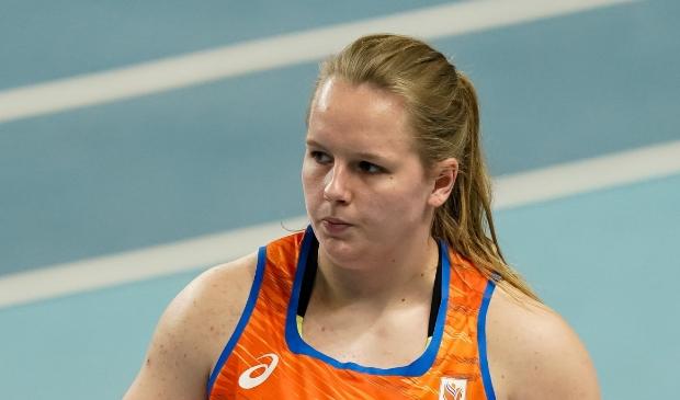 Jessica Schilder stootte een nieuw persoonlijk record en plaatste zich daarmee voor de finale. (Foto: Twitter AtletiekUnie) © rodi