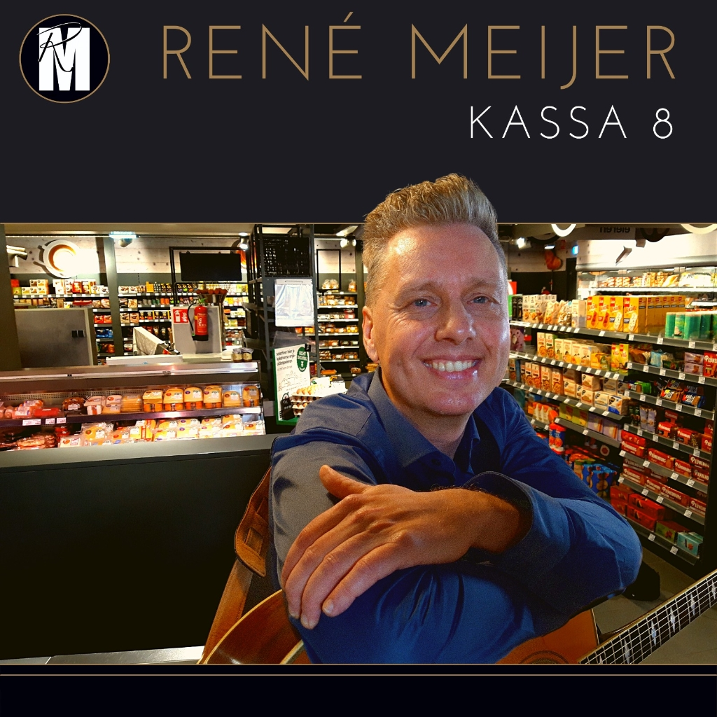 Zanger René Meijer zijn hart gaat harder kloppen bij het afrekenen van zijn boodschappen bij kassa 8... (Foto: aangeleverd) © rodi
