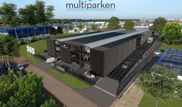 <p>Zo moet het garageboxencomplex van Bart-Jan en Machiel Baaijens eruit komen te zien.</p>