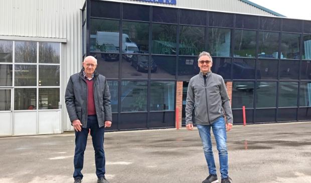 <p>Initiatiefnemers buurtwarmtenet Enkhuizen Ad Verhage en Bert Karel.</p>