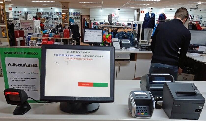 Het zelfafrekensysteem van Sportwereld Heiloo staat borg voor veilig winkelen.