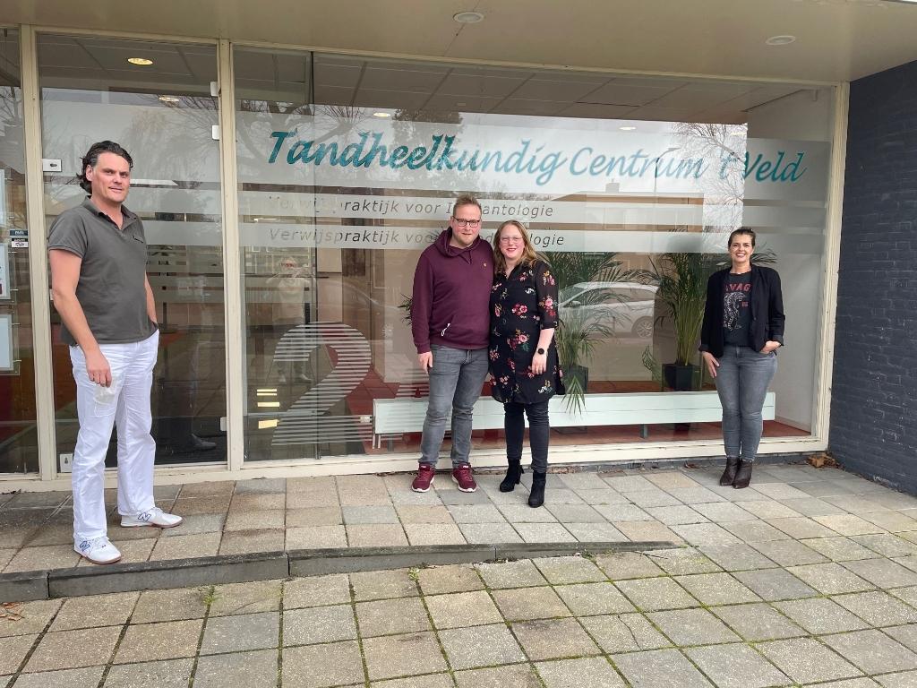 V.l.n.r. Henk Martin Mensink, Thijs, Jacqueline en Daphne. (Foto: JB/RM) © rodi