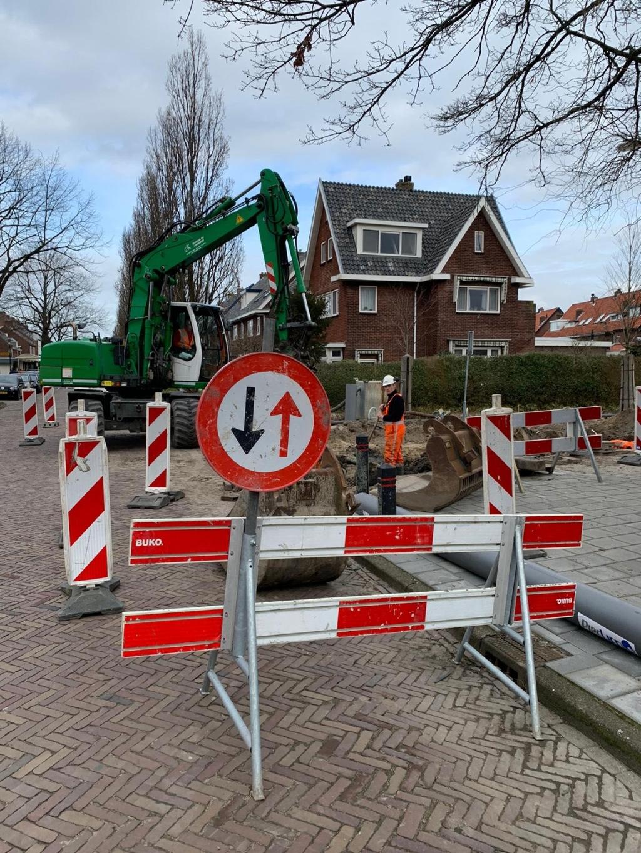 Werk aan de weg langs de Torenstraat. (Foto: Yvette van der Does) © rodi