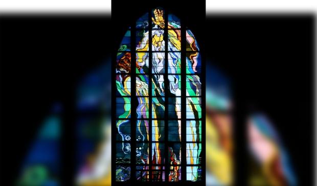 <p>Een glas-in-lood raam van Stanislaw Wyspianski. </p>